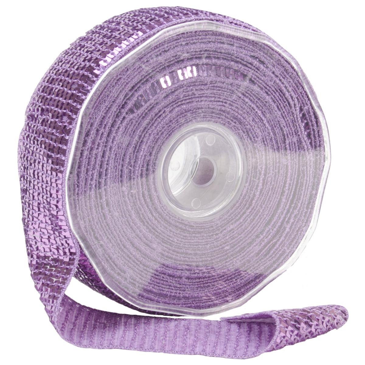 Square Sequin Trim 40mm X 15.95 Yards-Lavender