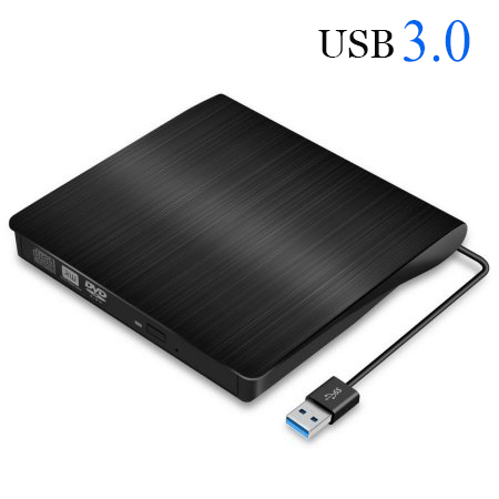 Jelly Comb Portable External CD Drive USB 3.0 Slim Optical Drive CD/DVD Player CD-RW Drive DVD-R Combo Burner Player for PC Laptop