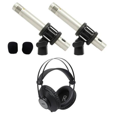 Samson C02 Pair Pencil Condenser Studio Recording Microphones + AKG