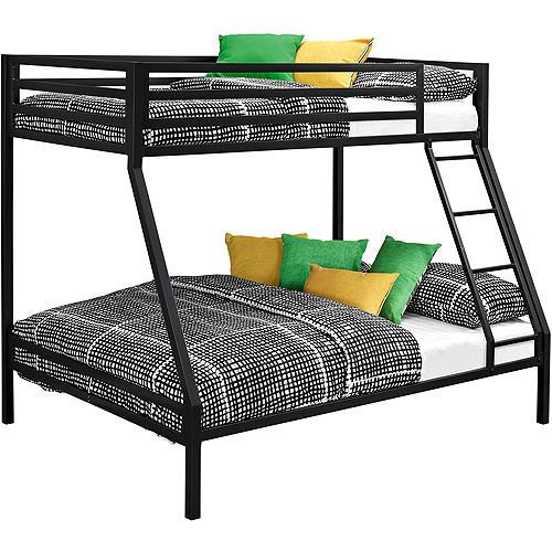 Dorel DHP Ultimate Full Over Twin Metal Bunk Bed With Storage, Black    Walmart.com
