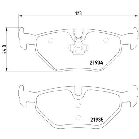 Go-Parts OE Replacement for 1999-2009 Saab 9-5 Rear Disc