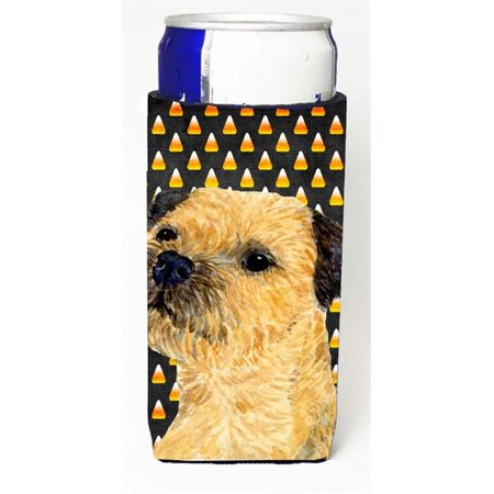 Border Terrier Candy Corn Halloween Portrait Michelob Ultra bottle sleeves For Slim Cans - 12 oz.](Border Terriers Halloween)
