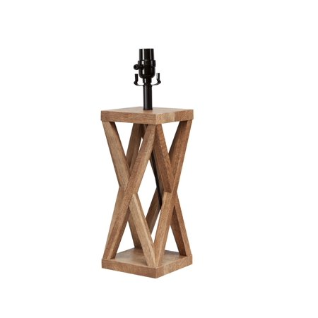 Better Homes & Gardens Wood X Frame Lamp Base 18.5
