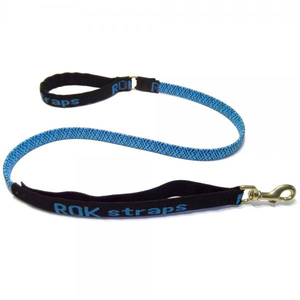 ROK Straps Stretch 54 Leash For Large Dogs 60lbs Plus - Color: Blue w/Black