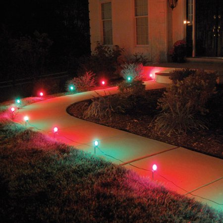 LumaBase Electric Pathway Lights, 10 Count, Red & - Lighted Pathway