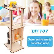 DIY Assemble Electric Lift Toys Kids Science Experiment Material Kits Toys Gift