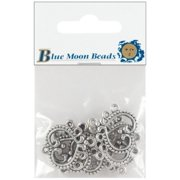Blue Moon Silver Plated Metal Connectors