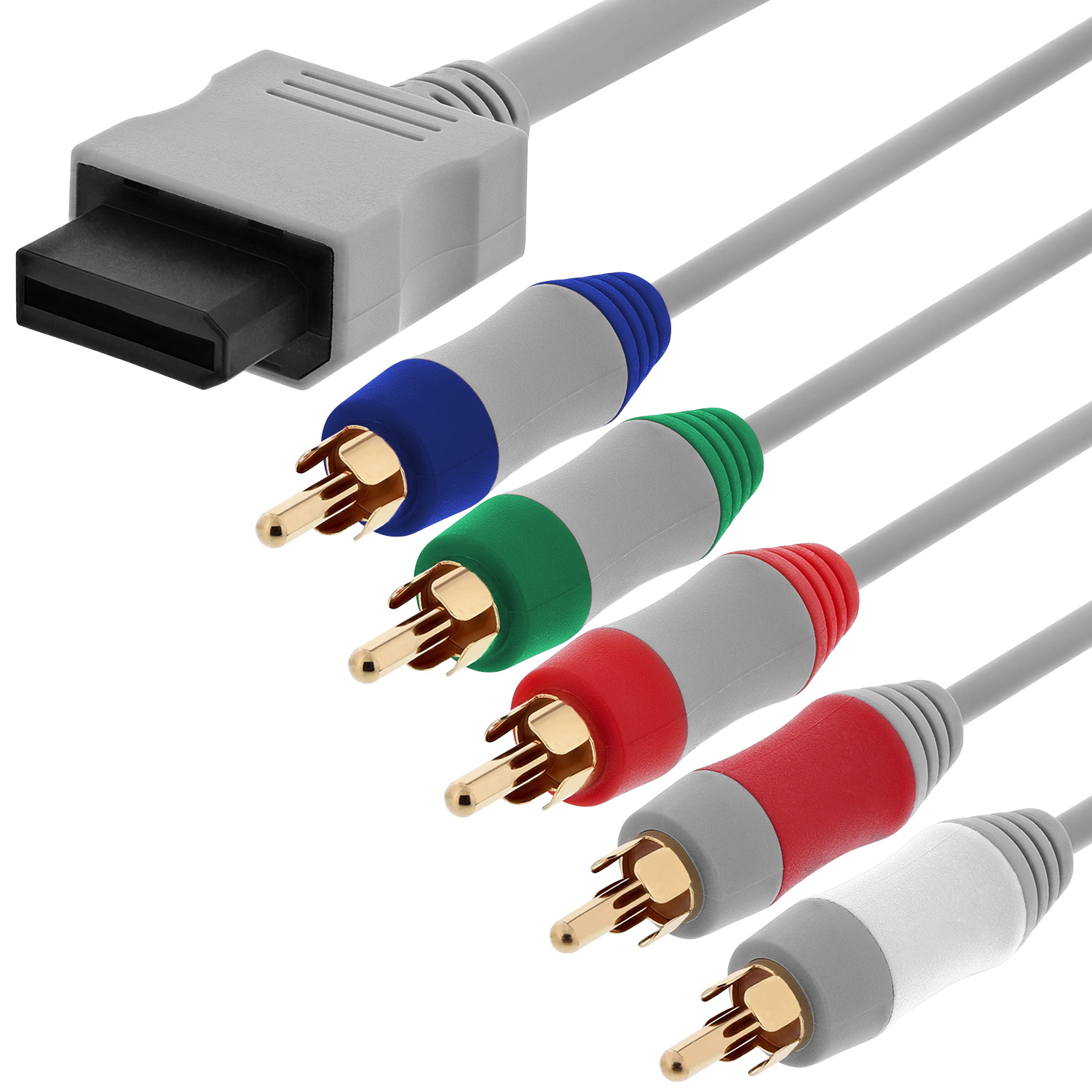 Fosmon Component HD AV Cable to HDTV/EDTV for Nintendo Wii & Wii U