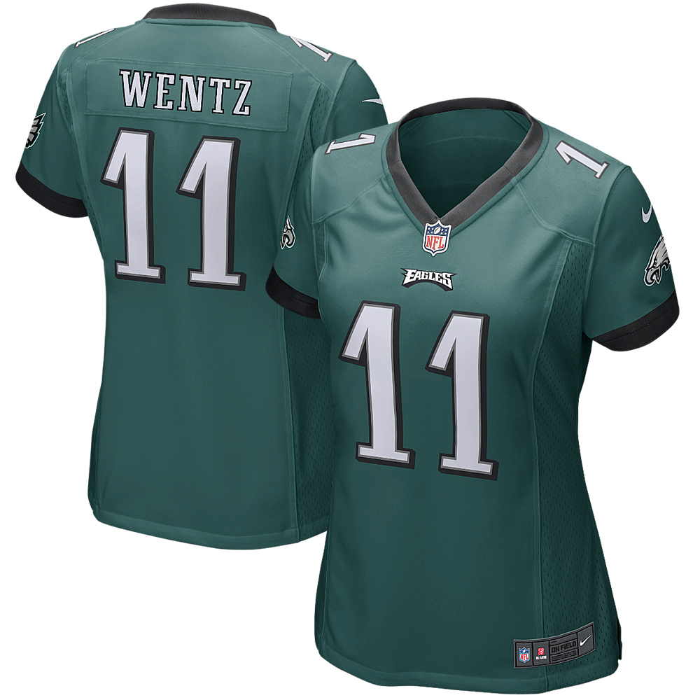 Carson Wentz Philadelphia Eagles Nike Women's Game Jersey - Green