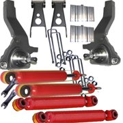 Airbagit X2-SPI-LIFT-FR-0110-8 Lifted Spindle, Shackle, 4 - Shocks & Blocks Ford Ranger Edge 2001 - Up