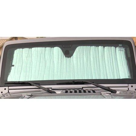 - AutoHeatshield Sunshade for Jeep Wrangler 1989 1990 1991 1992 1993 1994 1995 1996 Custom Fit Windshield Sunshade