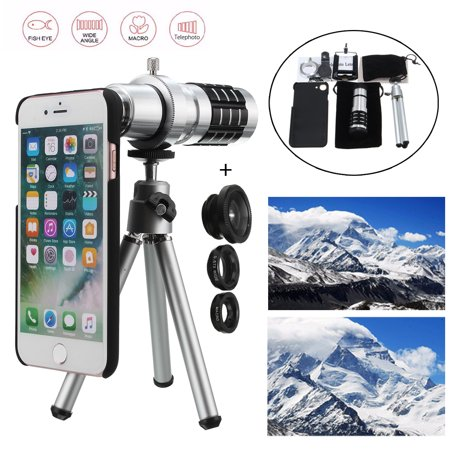 sports shoes 47572 683ae All in 1 12x Tripod Accessories Phone Camera Len Top Kit For iPhone ...