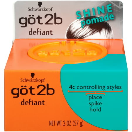 Got2B Defiant Define & Shine Hair Pomade, 2 Ounce (The Best Pomade For Thick Hair)