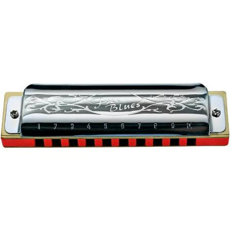 Hering 7020A Free Blues Diatonic Harmonica - Key of A - Plastic Harmonicas