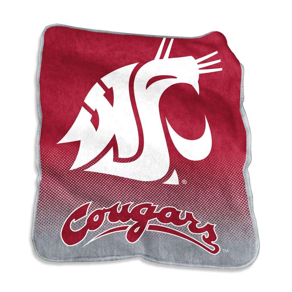 Washington State Cougars Raschel Throw Blanket - Fade