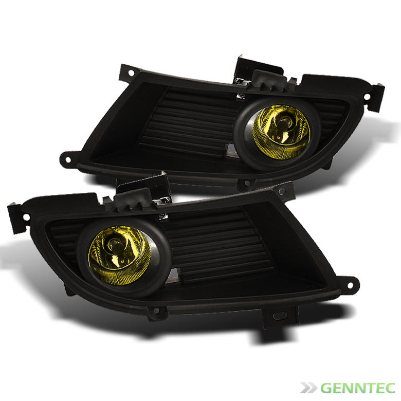 2004-2006 Lancer Y Bumper Fog Lights Lamp+Bulbs+Switch+Wiring Harness Pair 2005 Pair Left+Right