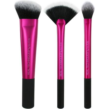 Real Techniques Sculpting Makeup Brush Set 2.0 (3 Count)