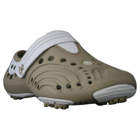 USA Dawgs GGS5734 DAWGS Girls Golf Spirit - Tan-White - Size 2