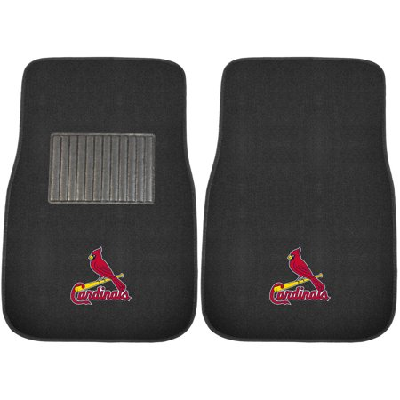 Mlb St  Louis Cardinals Embroidered Car Mats