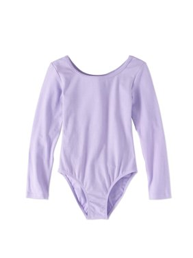 3368dc196411e Product Image Danskin Now Girls' Long Sleeve Ballet Dance Leotard with  Front Lining
