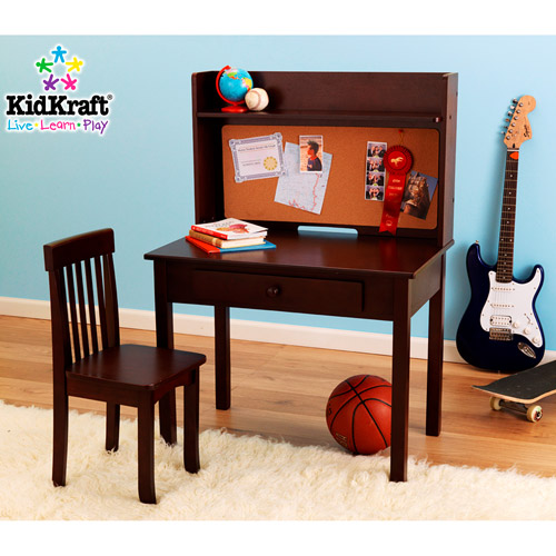 KidKraft - Pinboard Desk & Chair Set - Espresso