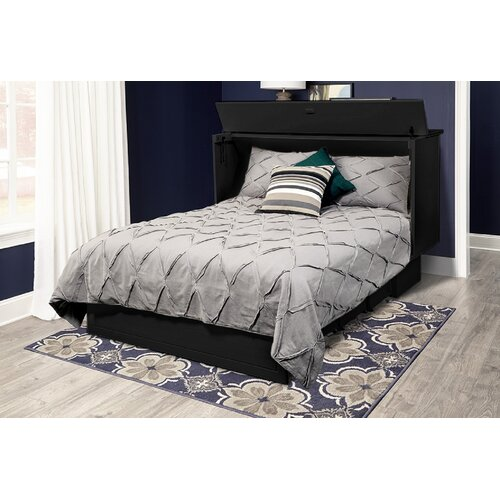 Pyper Marketing LLC Cottage Queen Storage Murphy Bed with Mattress