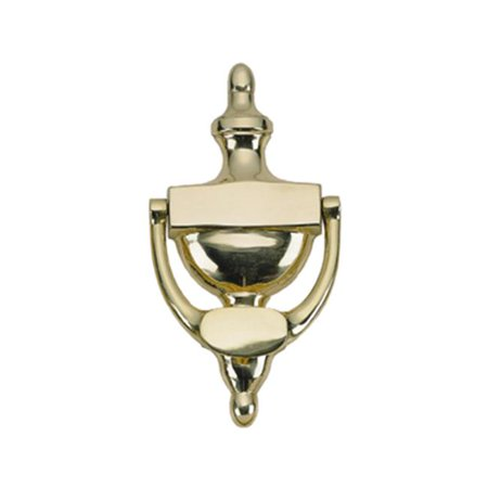 Image of BRASS Accents A07-K5520-605 Traditional Door Knocker 8 in. Polished Brass