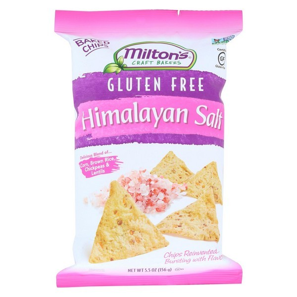 Miltons Gluten Free Baked Chips - Himalayan Salt - pack of 12 - 5.5 Oz.