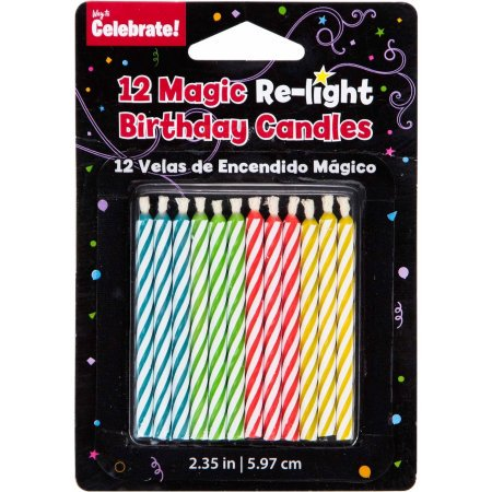 6 Pack Relight Birthday Candles
