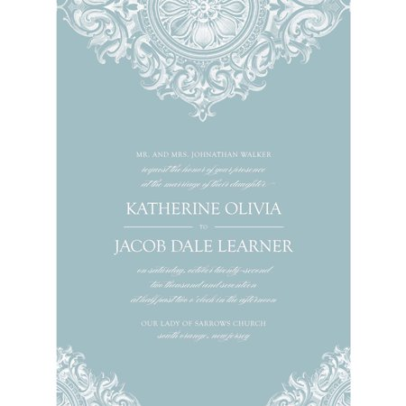 Flourished Medallion Standard Wedding Invitation