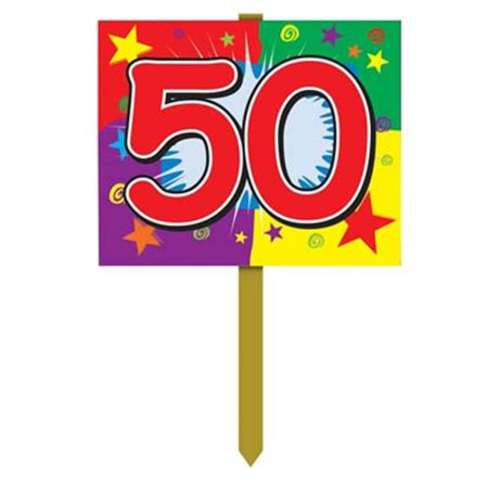 50th Birthday Yard Sign - Pack of 6 - Signs Of Birthday