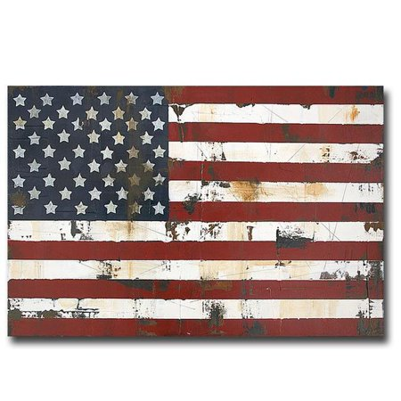 American Flag by Melissa Lyon Premium Gallery-Wrapped Canvas Giclee Art - 16 x 24 x 1.5 in. - image 1 de 1