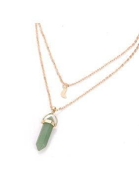 1757cca9abf Product Image Women Multilayer Irregular Crystal Opals Pendant Necklace  Choker Chain