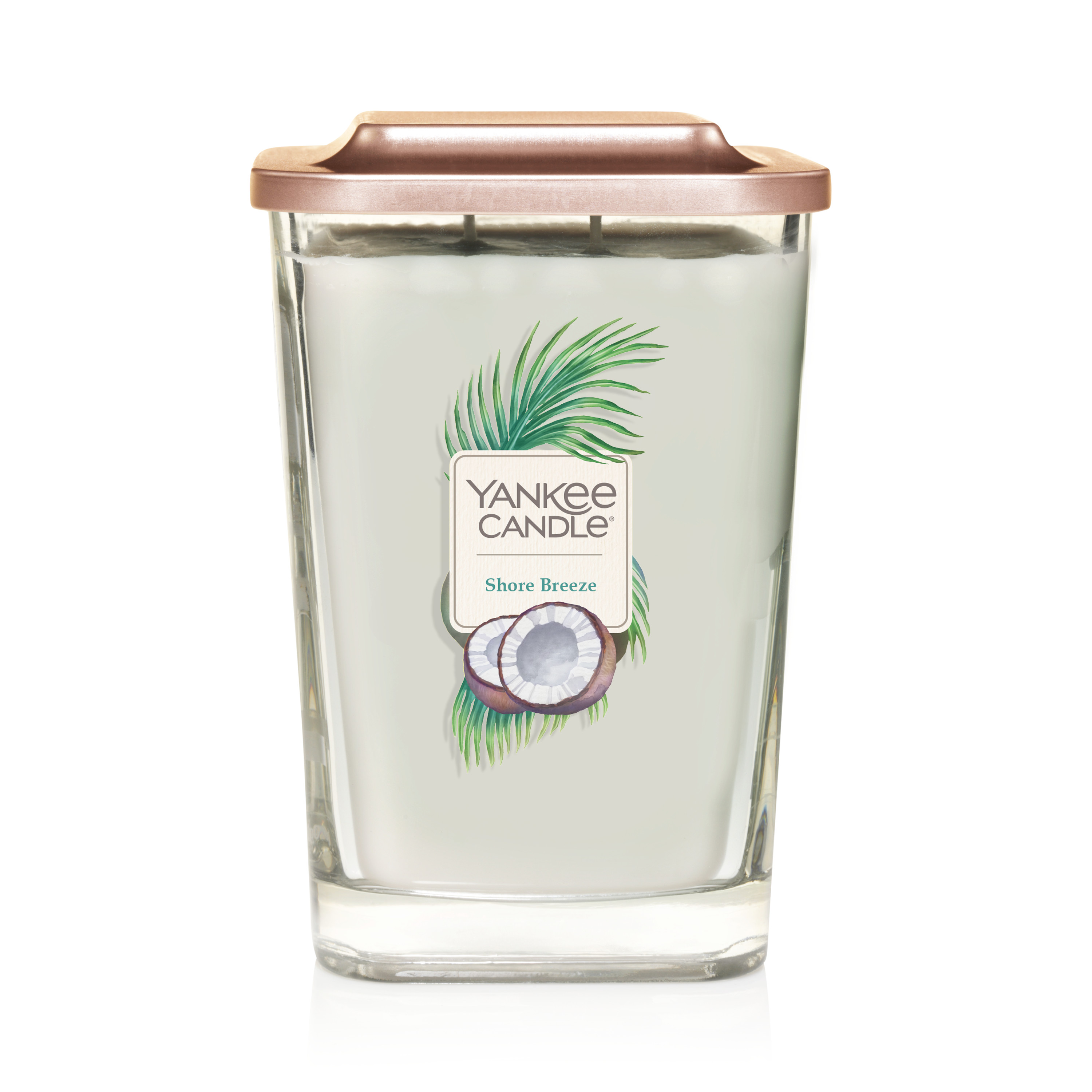 Yankee Candle Elevation Collection with Platform Lid Candle, Shore Breeze