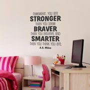 Belvedere Designs LLC Whimsical Stronger Braver Smarter Wall Quotes  Decal