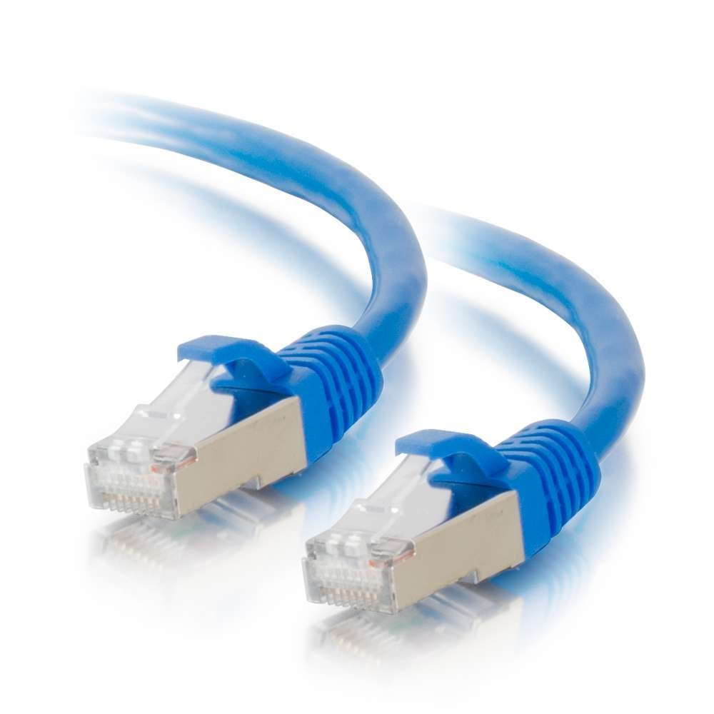 /Cables to Go 00795 Cat6 Snagless Shielded (STP) Network Patch Cable, Blue (5 Feet/1.52 Meters), Protect from EMI/RFI interference; connect network.., By C2G