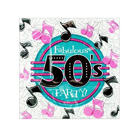 50s Theme Party (18 pack 50s party napkins)