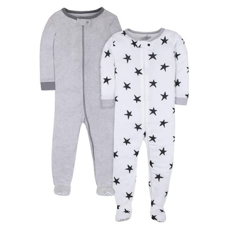 Pure Organic True Brights Footed Stretchie Pajamas, Sleepwear (Baby Girls & Toddler Girls, Baby Boys & Toddler Boys, Unisex) - Boy Girl Matching Pajamas