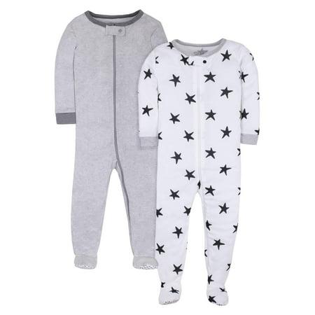 Pure Organic True Brights Footed Stretchie Pajamas, Sleepwear (Baby Girls & Toddler Girls, Baby Boys & Toddler Boys, Unisex)](Toddler Pj)