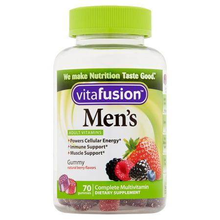 Vitafusion Gummy Vitamines Hommes Formule complète multivitamines, 70 count