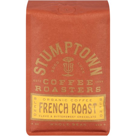 Elm Coffee Chocolates - Stumptown French Roast Blend Clove & Bittersweet Chocolate Organic Whole Bean Coffee 12 oz. Stand Up Bag