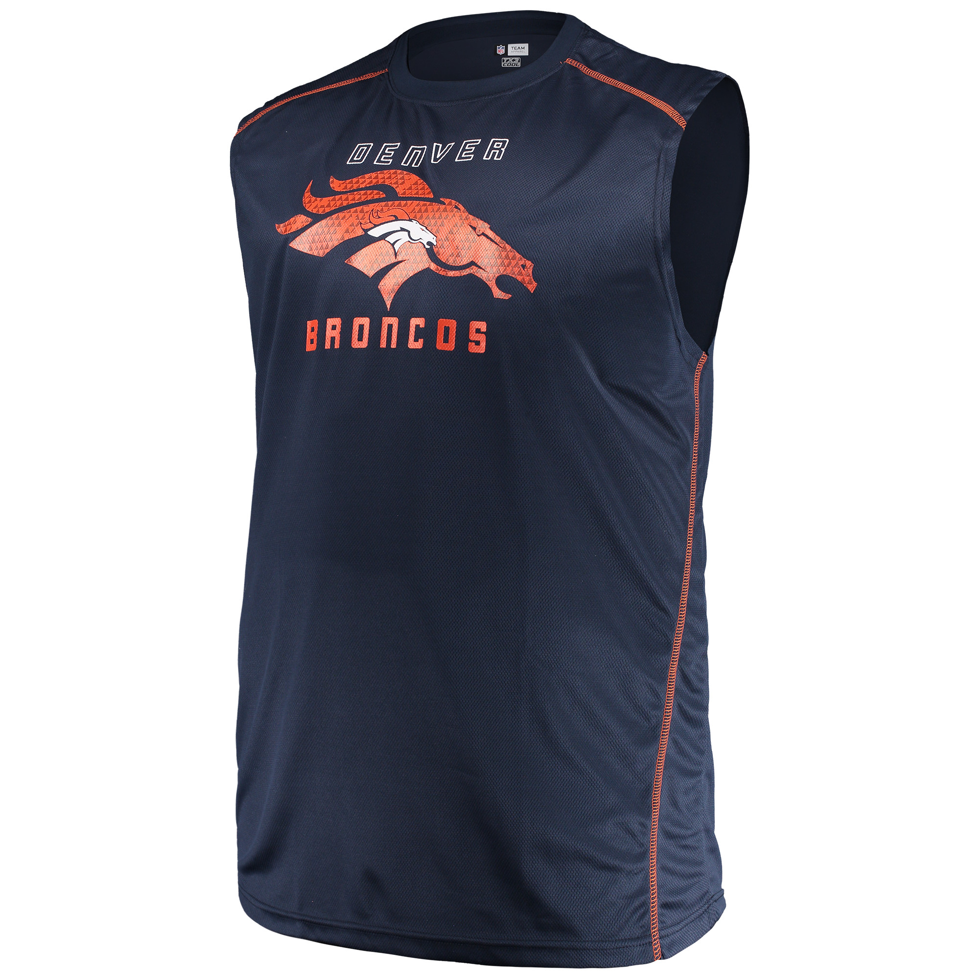Men's Majestic Navy Denver Broncos Big & Tall Endurance Test Muscle Tank Top
