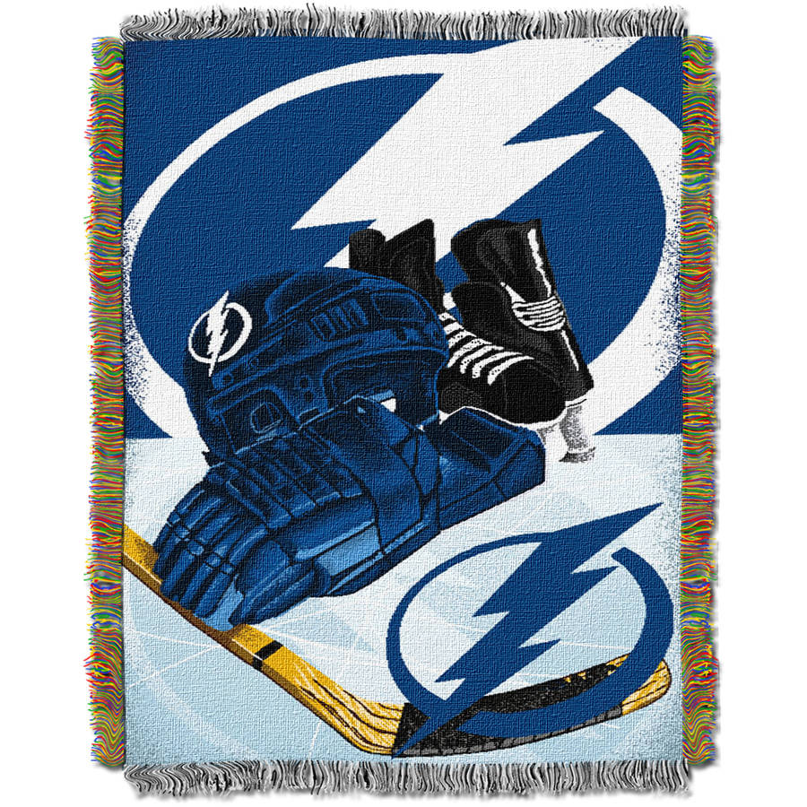 "NHL 48"" x 60"" Home Ice Advantage Series Tapestry Throw, Lightning"