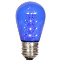 Vickerman S14 LED Blue Transparent Bulb E26 Nickel Base