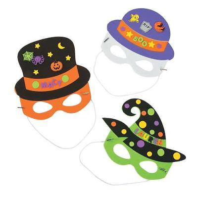 IN-13605621 Halloween Hat & Mask Craft Kit Makes 12 - Quick Halloween Crafts