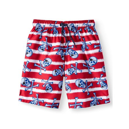 Wonder Nation Swim Trunk (Little Boys & Big Boys) (Boys Swim Trunks Size 7)