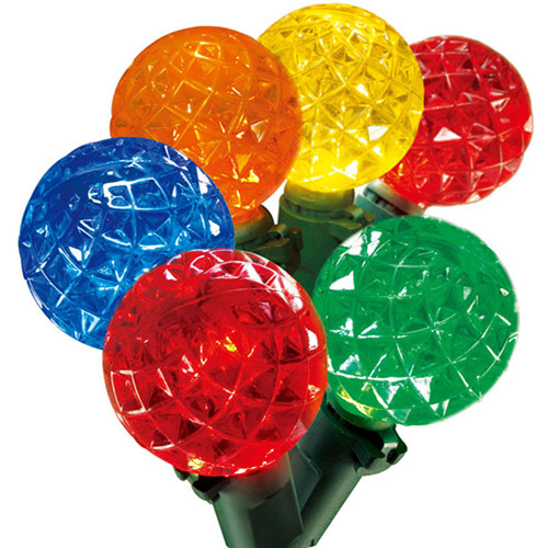 Holiday Time 50-Count G8 Globe Christmas Lights, Multi-Color