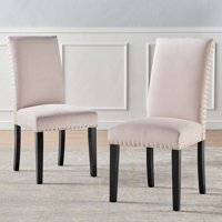 Parcel Performance Velvet Dining Side Chairs - Set of 2 in Pink