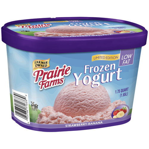 Prairie Farms Strawberry-Banana Low Fat Frozen Yogurt, 1.75 qt