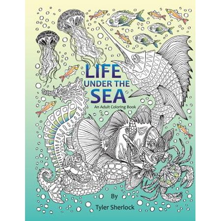 Life Under The Sea Right Handed Adult Coloring Book